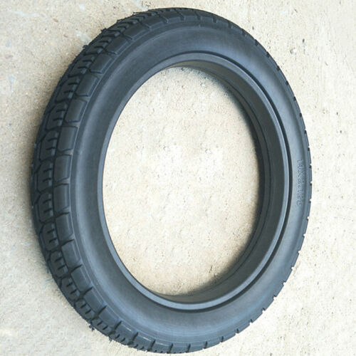 Solid Tire Urethane rubber Black Replacement 14x2.125 Bicycle Portable