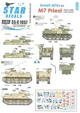 Star Decals 1/35 ISRAELI AFVs Part 4 M7 PRIEST