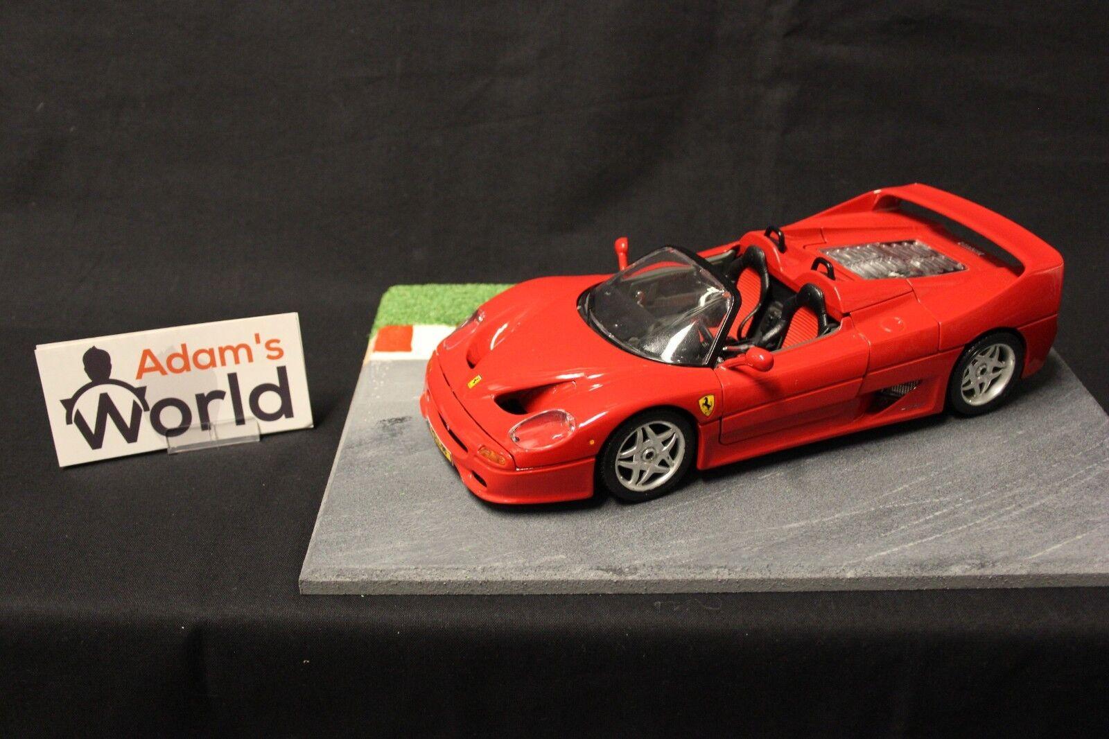 Bburago Ferrari F50 (open) 1995 1 18 red (FNB) (PS-LL-98)
