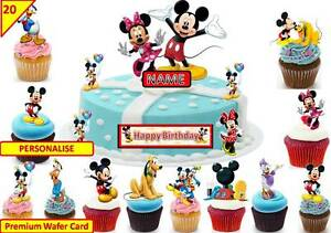 Enjoyable Mickey Mouse Clubhouse Cup Cake 3D Scene Toppers Birthday Personalised Birthday Cards Veneteletsinfo