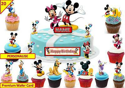 Tremendous Mickey Mouse Clubhouse Cup Cake 3D Scene Toppers Birthday Wafer Personalised Birthday Cards Paralily Jamesorg