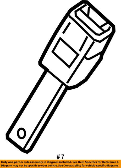 dodge chrysler oem 06-07 magnum front seat belt-buckle end right 1by451dvab