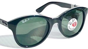 04d7e9492c NEW  Ray Ban BLACK frame POLARIZED Green lens Women s Sunglass RB ...