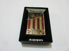 Zippo Stars & Stripes USA Flagge V8 Big Block Rockabilly Nose Art US Car Army #1