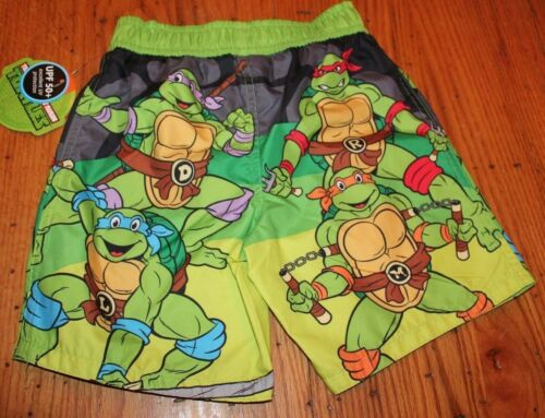 NWT BOYS TODDLER SWIMTRUNKS SWIM WEAR TRUNKS TMNT TEENAGE MUTANT NINJA TURTLE