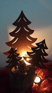 Tannenbaum Edelrost.Details Zu 3er Set Edelrost Metall Rost Tannenbaum Linie Zum Stecken Weihnachten Garten