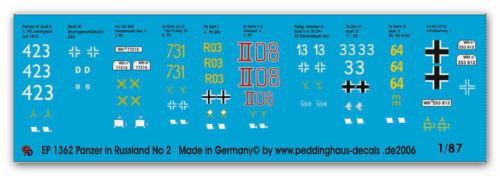 Peddinghaus  1//87 1362 Panzer des Russlandfeldzuges No 2 1941-42