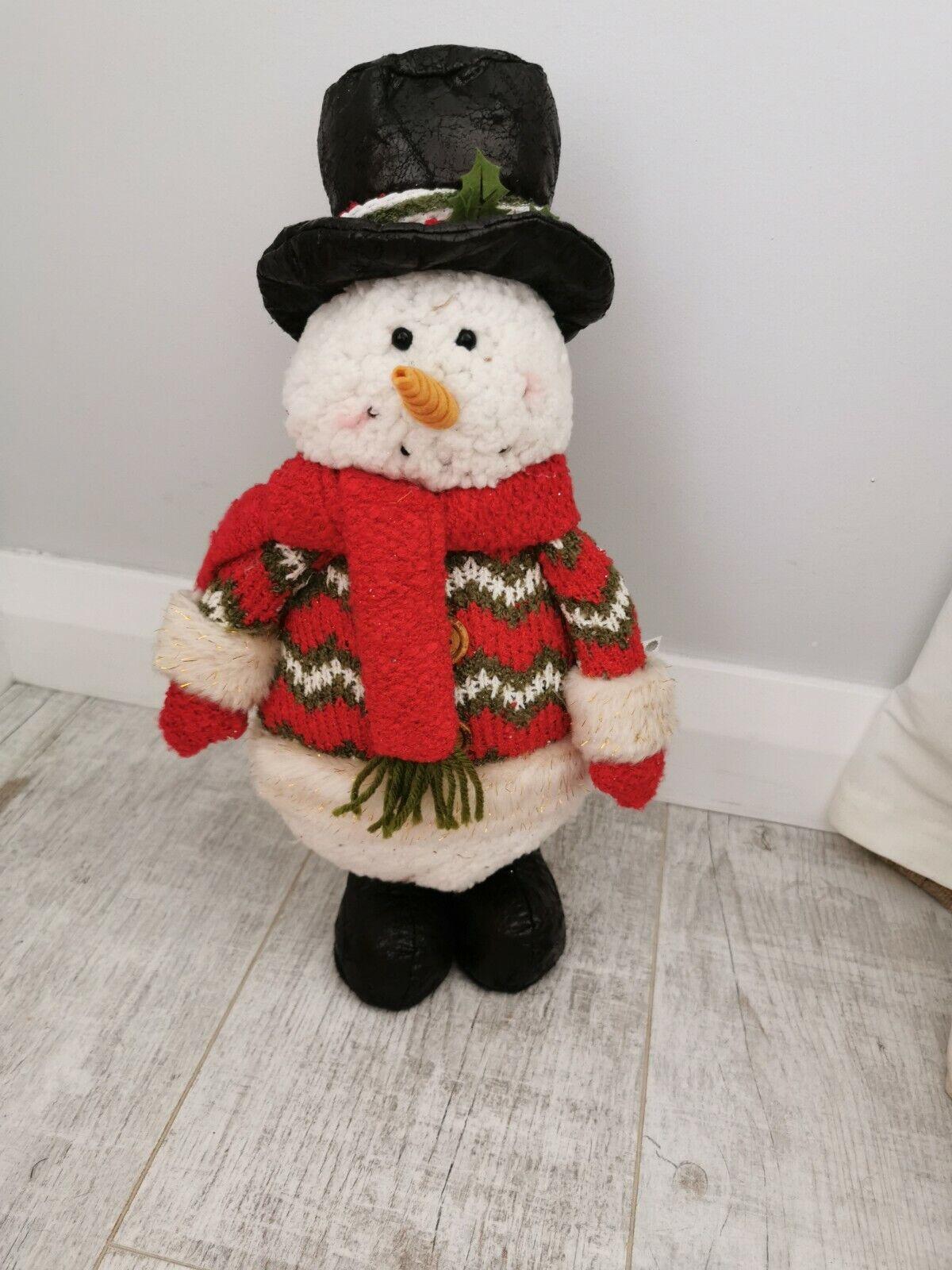 Pie Navidad Muñeco de nieve 30cm