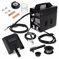 Mig 130 Gas Less Flux Core Wire Welder Welding Machine With Cooling Fans