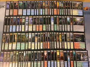 100 Assorted Basic Nonbasic Lands Commander EDH Magic the Gathering MTG