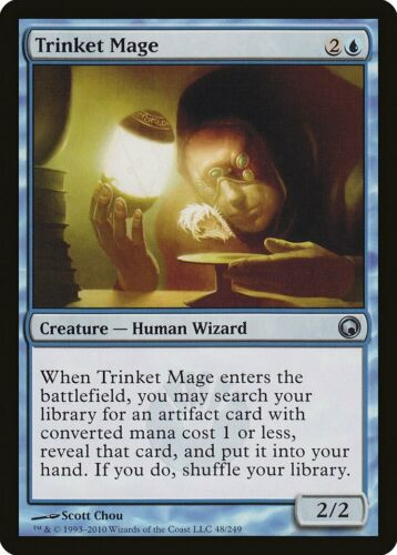 Trinket Mage Scars of Mirrodin PLD Blue Uncommon MAGIC MTG CARD ABUGames