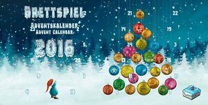 Brettspiel Adventskalender 2016 Advent Calendar Promo Mini Expansion Board Game