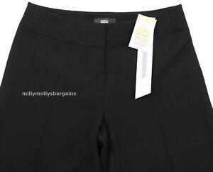 Nueva-camiseta-para-mujer-Marks-amp-Spencer-Negro-Pantalones-Tamano-20-16-12-10-de-largo-medio-corto