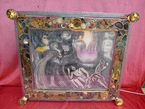 Bella artisti-immagine __ pietre preziose... __ realizzati a mano __ 73 x 62cm_12kg __ DIPINTO _ beleucht