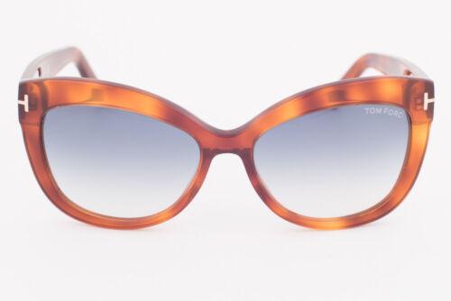 Blue Gradient Sunglasses TF524 53W Tom Ford Alistair Blonde Havana
