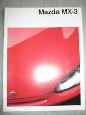 Mazda MX3 brochure Sep 1991 German text
