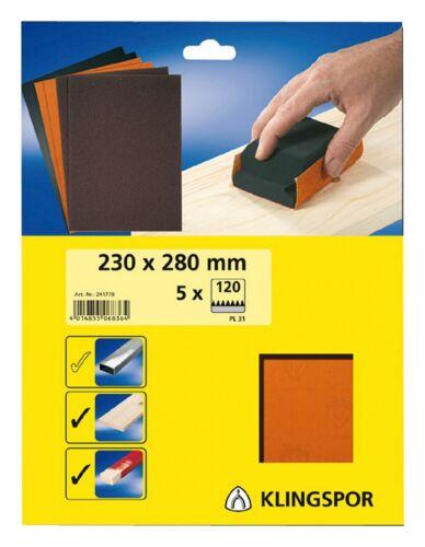 Klingspor SB-Schleifpapier Pl31 230 x 280mm K60-241777