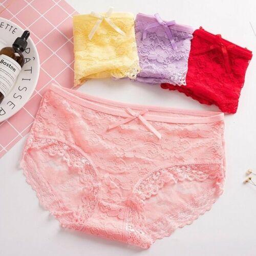 Women Ladies Underwear Panties Briefs Underpants Lingerie Lace Body-short Thong