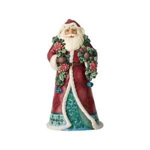 Jim-Shore-034-WRAPPED-IN-GOOD-TIDINGS-034-Winter-Wonderland-Santa-With-Garland-NEW