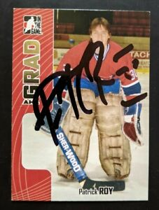 2005-06-In-the-Game-Heroes-ITG-and-Prospects-Patrick-Roy-Autograph-AHL-Grad-345