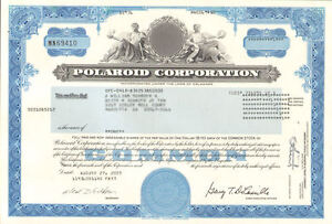 Polaroid-Corporation-gt-instant-camera-film-collectible-stock-certificate