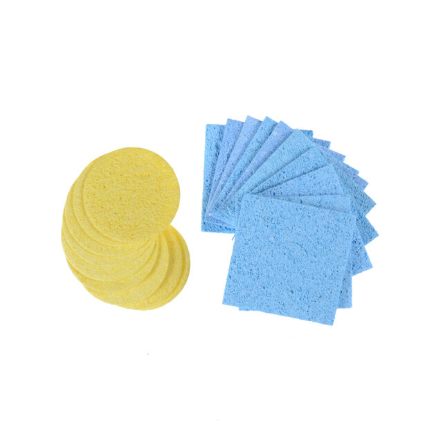 10Pcs High Temperature Sponge Clean Tin Welding Soldering Iron Round SquareE9C