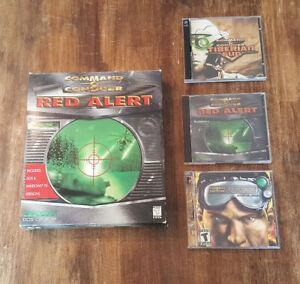Command & Conquer Red Alert PC BIG Box + Tiberian Sun + Renegade
