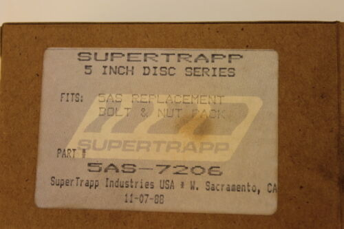 NEW SUPERTRAPP 5AS BOLT AND NUT PACK PART# 5AS-7206