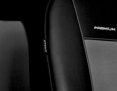 Skoda Octavia I 1996-2010 Maßgefertigt Maß Sitzbezüge Kunstleder schwarz grau