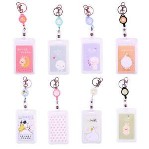 Am-AU-Cute-Cartoon-PVC-ID-Badge-Bus-Card-Sleeve-Case-Holder-Keychain-Key-Ring
