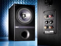 One Pair Kef Q100b Bookshelf Speakers Black Oak Finish Brand