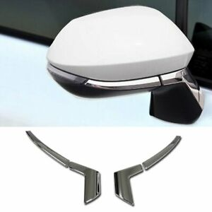 Fit-For-Toyota-2019-COROLLA-HATCHBACK-Chrome-Rear-View-Mirror-Side-Molding-Cover