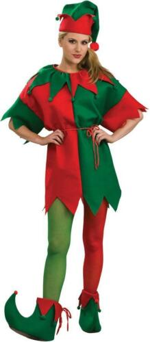 ADULT ELF RED GREEN CHRISTMAS TIGHTS STOCKINGS HOSIERY COSTUME SIZE L RU8494LG