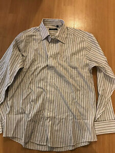 Men-039-s-Georgio-Armani-Collezioni-Striped-Dress-Shirt-Size-17-1-2-17-5-43