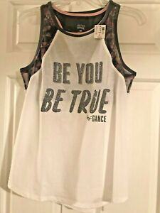304cf37de27 NWT Girls Justice Active Tank Top - Be You Be True - Dance -Built in ...