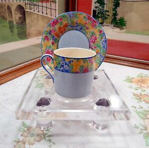 VINTAGE-BLUE-AND-CHINTZ-BAND-2-1-8-034-DEMITASSE-CUP-AND-SAUCER-SET