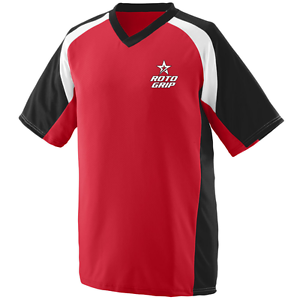 redo Grip Men's Epic Performance Jersey Bowling Shirt Dri-Fit Red