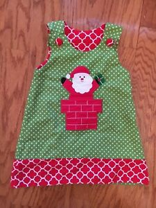 Reversible-Toddler-Girls-Christmas-Santa-Jumper-Dress-Size-2T