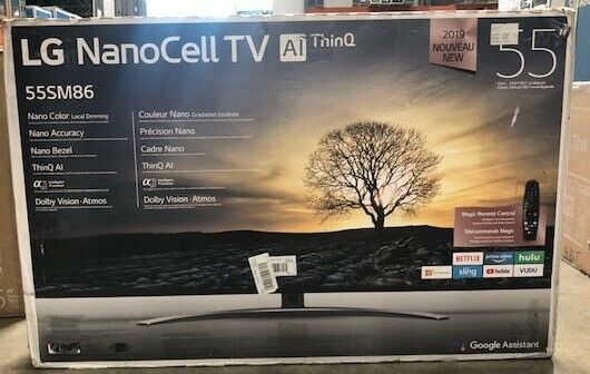 LG 55SM8600PUA 54.6 4K UHD NanoCell Smart TV (2019). Available Now for 707.99