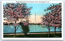 Postcard DC 1931 Washington City From Potomac Park Washington Monument I3