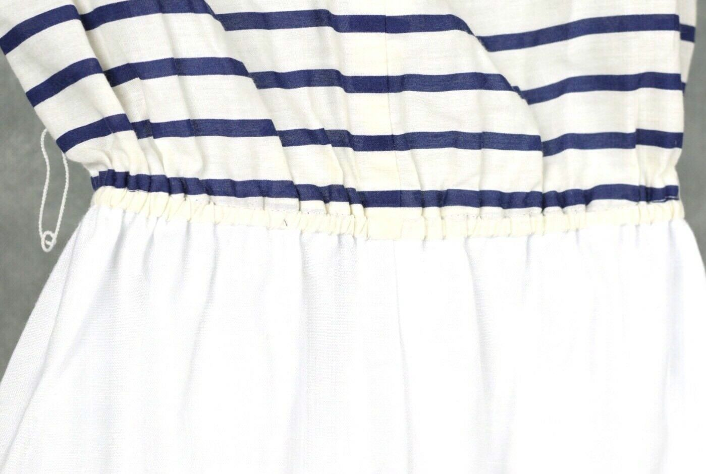 Vintage No Brand White And Blue Dress Lot Size 12 - image 10