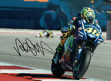 VALENTINO ROSSI Autograph 2017 SIGNED 16x12 Yamaha Photo C AFTAL COA The Doctor