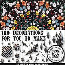 Day of the dead- origami paper - Make 100 paper decorations, cranes, lilies