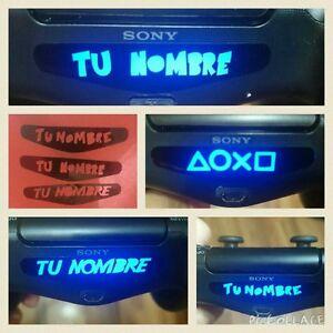 3 PEGATINA VINILO MANDO LED PERSONALIZADA  DUALSHOCK 4 PS4+ logo botones regalo!
