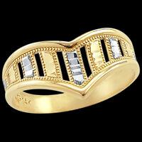 Fashion Ring 14k White And Yellow Gold Band Thumb