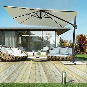 Ombrellone giardino decentrato palo alluminio girevole 360 telo idrorepellente ebay - Ombrelloni da giardino usati ...