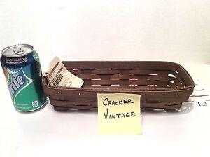 Warm Brown CRACKER Basket Longaberger Option 2 purchase Protector New
