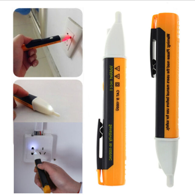 AC 90~1000V Non-Contact LED Electric Alert Voltage Detector Sensor Tester Pen HF