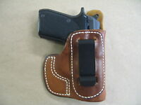 Taurus Pt22 / Pt25 Iwb In Waistband Leather Concealed Carry Holster Ccw Tan Rh
