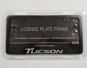 New 2005 2019 Hyundai Tucson Black License Plate Frame